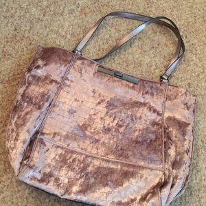 Barely Worn Purple Velvet Large Shoulder Bag